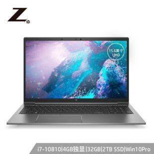 惠普(HP)ZBook_Firefly15G7 15.6英寸设计本笔记本电脑移动工作站i7-10810U/32G/2T SSD/4G独显/UHD