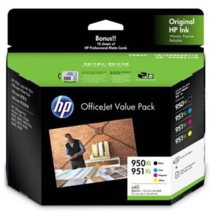 HP 950XL/951XL 办公室超值套装(10 页/4 x 6 英寸)