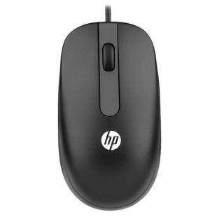 惠普(HP)有线办公鼠标 笔记本台式机鼠标 黑色