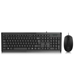 惠普(HP)km10有线键盘鼠标套装 台式笔记本办公家用商务USB防水键鼠套装 黑色