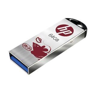 惠普(HP)商用64GB USB3.1 鼠年定制U盘(庚子年) 高速安全迷你车载电脑两用优盘