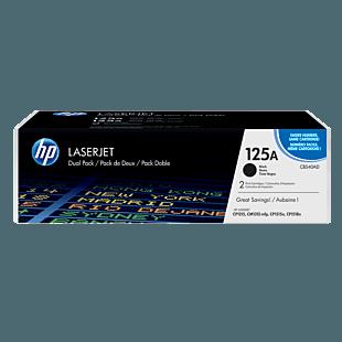 HP 125A 黑色原装 LaserJet 硒鼓(每包 2 个)