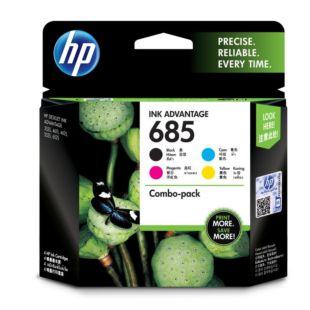 HP 685 号 4 件套黑色/青色/品红色/黄色原装 Ink Advantage 墨盒