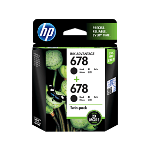 HP 678 号 Ink Advantage 黑色原装墨盒(2 件套)