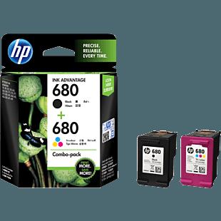 HP 680 黑色/三色原装 Ink Advantage 墨盒(两件装)