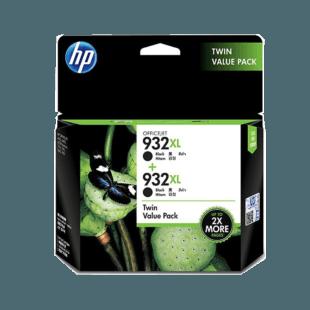 HP 932XL 高收益黑色原装墨盒(两件套)