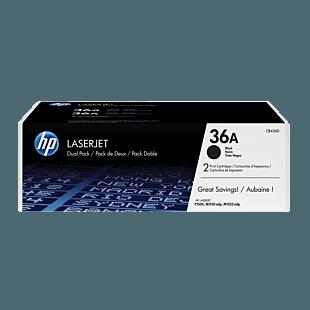 HP 36A 黑色原装 LaserJet 硒鼓(每包 2 个)