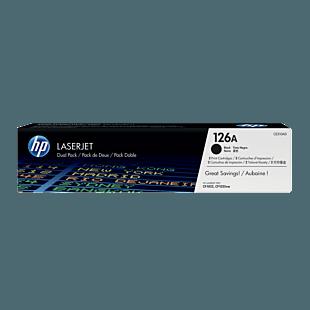 HP 126A LaserJet 黑色原装硒鼓(每包 2 个)