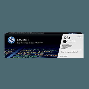 HP 128A 黑色原装 LaserJet 硒鼓(每包 2 个)