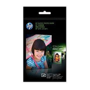 HP 光面相纸 - 20 张/10 x 15 厘米