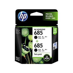 HP 685 号 Ink Advantage 黑色原装墨盒(2 件套)