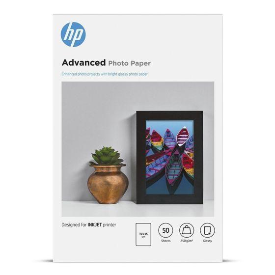 HP 高级 FCS 光面相纸 - 50 张/10 x 15 厘米