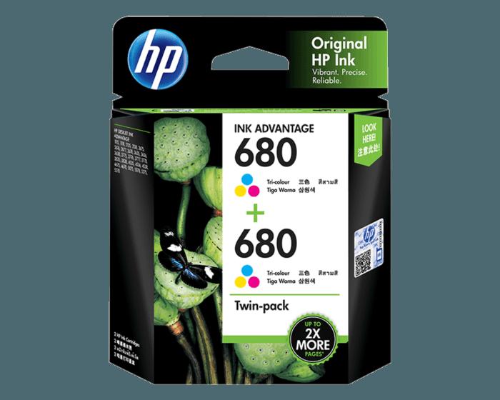 HP 680 彩色原装 Ink Advantage 墨盒(两件装)