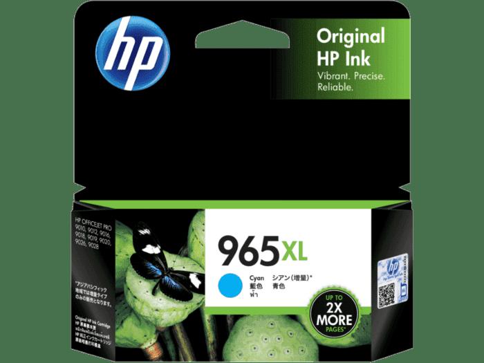HP 965XL 高印量青色原装墨盒
