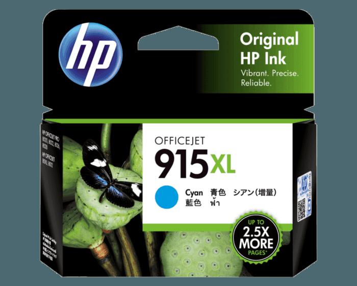 HP 915XL 高印量青色原装墨盒