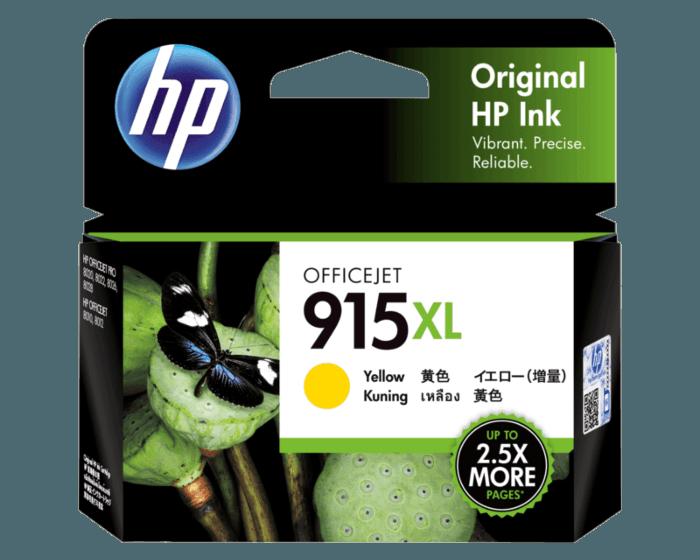 HP 915XL 高印量黄色原装墨盒