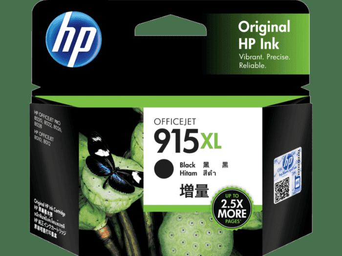 HP 915XL 高印量黑色原装墨盒