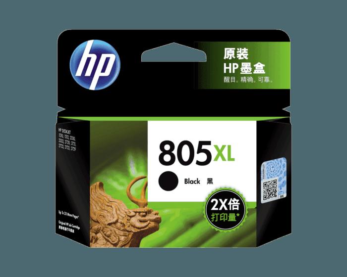HP 805XL 高印量黑色原装墨盒(适用HP DeskJet 1210/1212/2330/2332/2720/2721/2722/2723/2729)