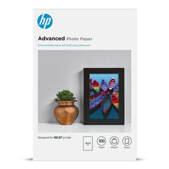 HP 高级 FCS 光面相纸 - 100 张/10 x 15 厘米