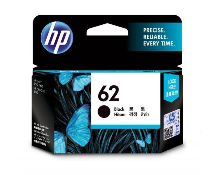 HP 62 号黑色原装墨盒