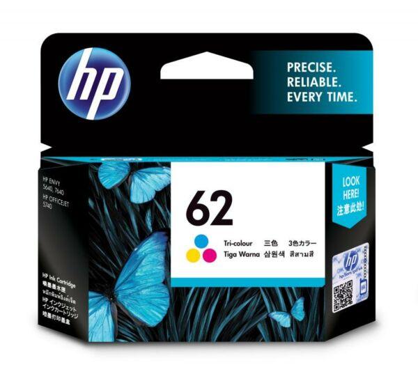 HP 62 号彩色原装墨盒