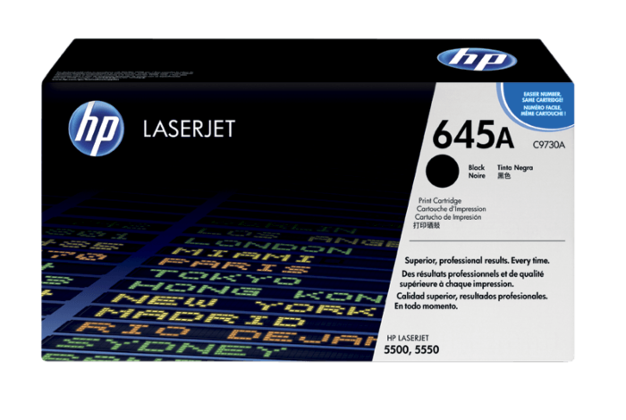 HP 645A 黑色原装 LaserJet 硒鼓
