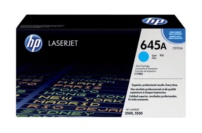 HP 645A 青色原装 LaserJet 硒鼓