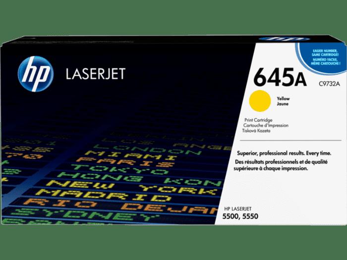 HP 645A 黄色原装 LaserJet 硒鼓