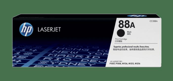 HP 88A 黑色原装 LaserJet 硒鼓(每包 2 个)