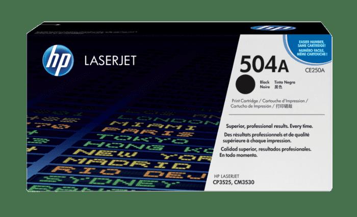 HP 504A 黑色原装 LaserJet 硒鼓