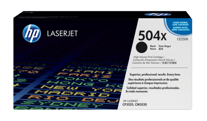 HP 504X 高收益黑色原装 LaserJet 硒鼓