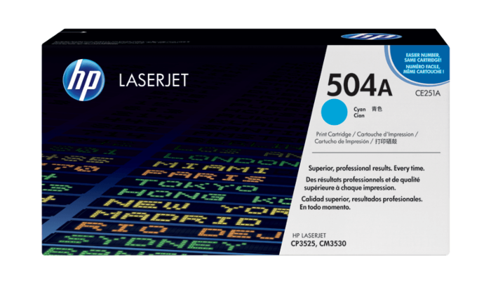 HP 504A 青色原装 LaserJet 硒鼓