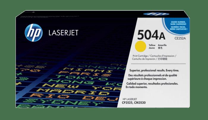 HP 504A 黄色原装 LaserJet 硒鼓