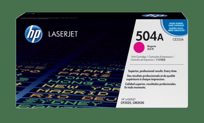 HP 504A 品红色原装 LaserJet 硒鼓