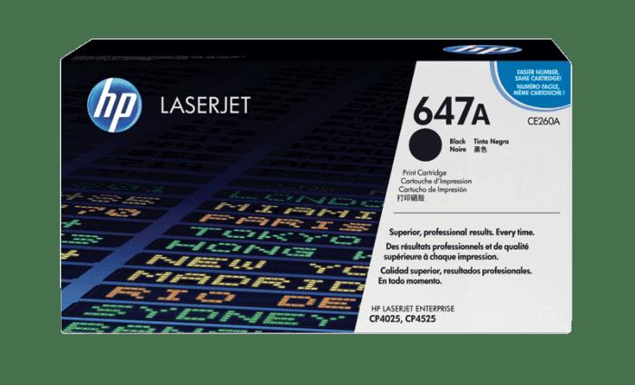HP 647A 黑色原装 LaserJet 硒鼓