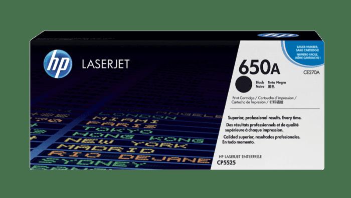 HP 650A 黑色原装 LaserJet 硒鼓