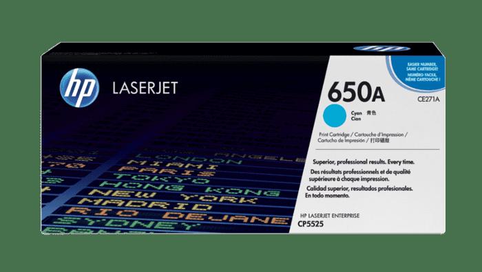 HP 650A 青色原装 LaserJet 硒鼓