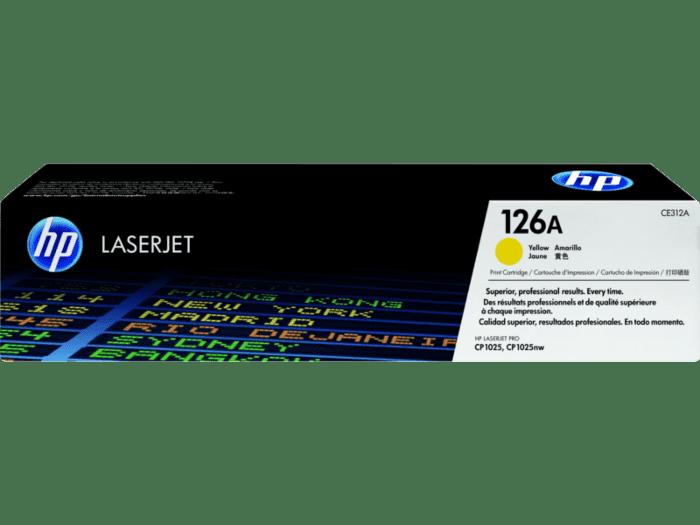 HP 126A 黄色原装 LaserJet 硒鼓
