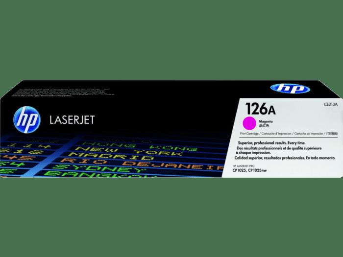 HP 126A 品红色原装 LaserJet 硒鼓
