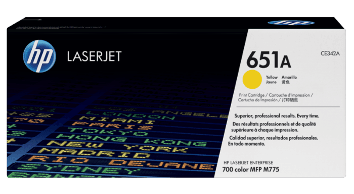 HP 651A 黄色原装 LaserJet 硒鼓
