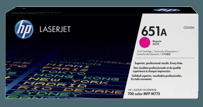 HP 651A 品红色原装 LaserJet 硒鼓