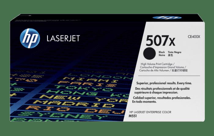 HP 507X 高收益黑色原装 LaserJet 硒鼓