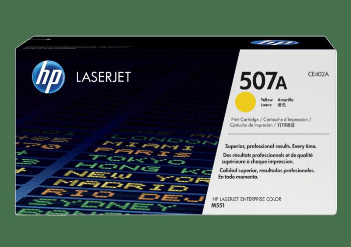 HP 507A 黄色原装 LaserJet 硒鼓