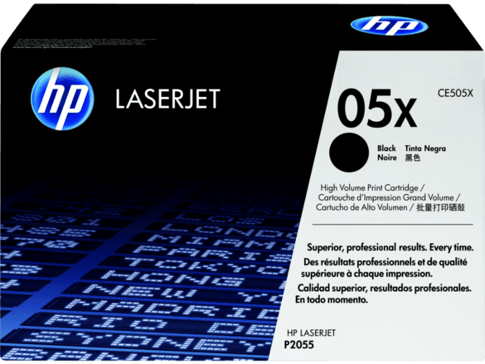 HP 05X 高印量黑色原装 LaserJet 硒鼓