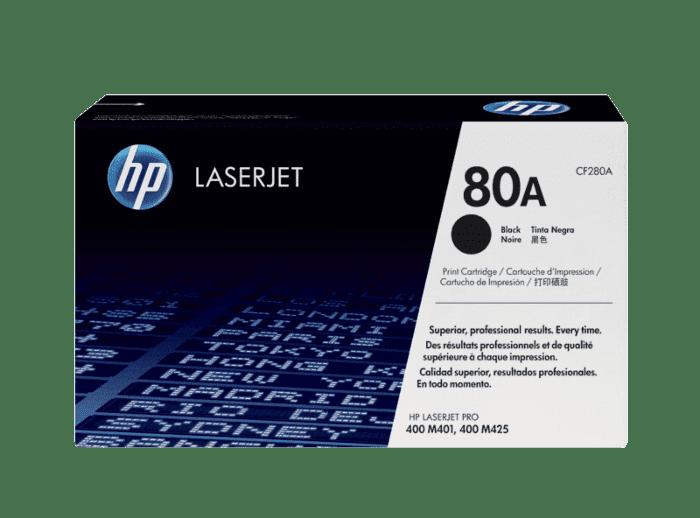 HP 80A 黑色原装 LaserJet 硒鼓