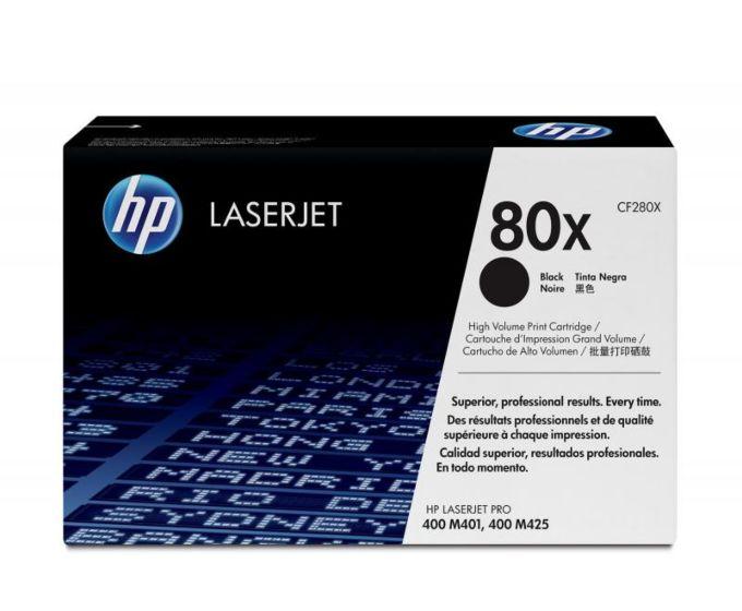 HP 80X 高收益黑色原装 LaserJet 硒鼓