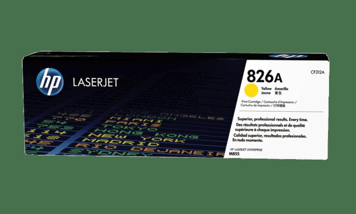 HP 826A 黄色原装 LaserJet 硒鼓