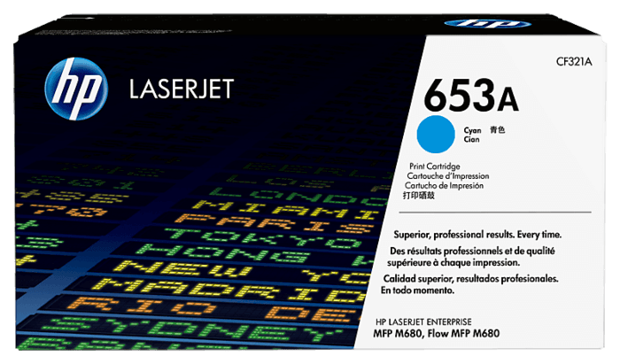 HP LaserJet 653A 青色原装硒鼓