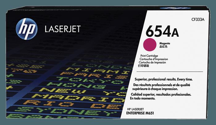 HP LaserJet 654A 品红色原装硒鼓