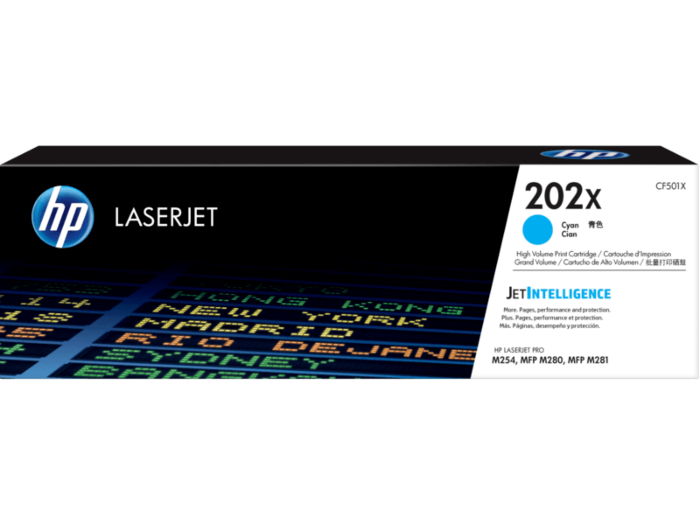 HP LaserJet 202X 高印量青色原装硒鼓